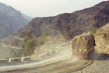 The famous Khyber Pass in Pakistani tribal area