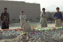 Anti-Taliban leader Abdul Haq's grave