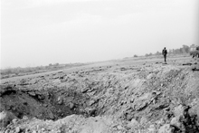 Airstrip Jalalabad airport damaged by a bombardment